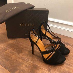 GUCCI : Betty High Heel Platform Sandal